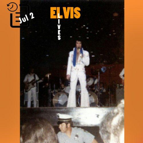 الویس در مرکز مریود آرنا، اوکلاهما سیتی، اوکلاهما چنین روزی 2 ژوئیه 1973