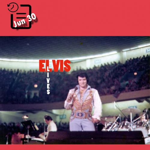 الویس در سالن بزرگ، گرینزبورو، کارولینای شمالی چنین روزی 30 ژوئن 1976