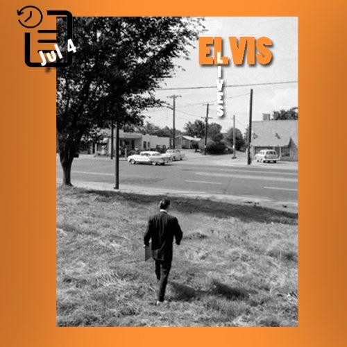 الویس در راه رفتن به خانه اش در Audubon Drive چنین روزی 4 ژوئیه 1956