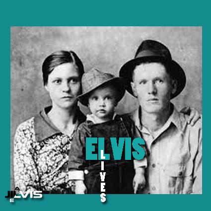 الویس در دو سالگی در کنار پدر و مادر-1937