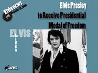 اعطای مدال آزادی رئیس جمهوری آمریکا به الویس پریسلی